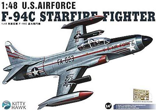 KITTY HAWK MODELS F94C Starfire USAF Fighter -- Plastic Model Airplane Kit -- 1/48 Scale -- ()
