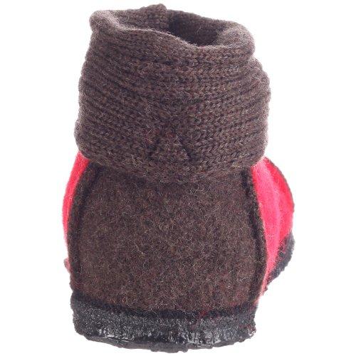 Nanga 0001 - Zapatillas de casa de fieltro unisex Rojo (Rot/Braun)