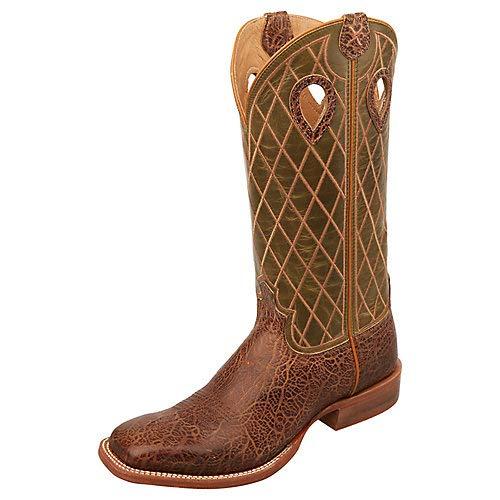 Womens Ruff Stock - Twisted X MRSL039 Men's Ruff Stock Boot, Chocolate/Pine - 7 EE