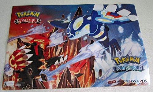 Pokemon Alpha Sapphire/ Mega Ruby D/S Original Video Game Poster Gamestop