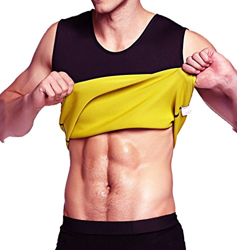 8acb6c0a10 AL IVER Men s Hot Sweat Body Shaper Tummy Fat Burner Tank Top Slimming Vest  Weight