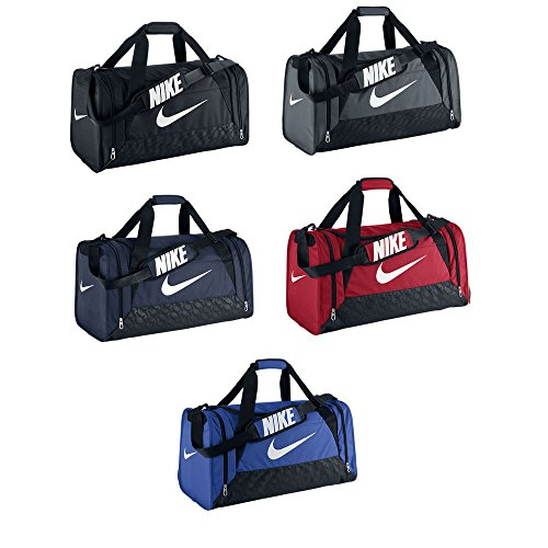 72d15463a445 New Nike Brasilia 6 Medium Duffel Bag Midnight Navy Black White - Buy  Online in Oman.