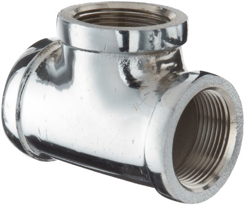 - Chrome Plated Brass Pipe Fitting, Tee, 1/2