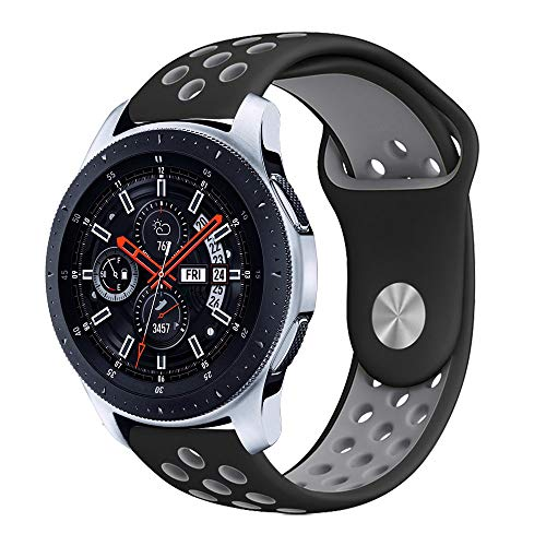 Compatible for Samsung Galaxy Watch 46mm Band, Surace Soft Silicone Band 22mm with Quick-Release Pin Replacement Strap for Galaxy Watch