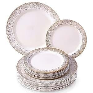 ... Commemorative \u0026 Decorative Plates  sc 1 st  Amazon.com & Amazon.com: Party Disposable 40pc Dinnerware Set |20 Dinner Plates ...