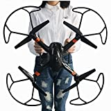 Super Large RC Drone Quadcopter Kit with 2MP HD Camera 6-axis 4CH RC Helicopter Aircraft and Headless Mode Remote Control Airplane With Extra Battery (Black)