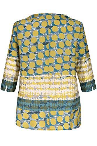 4 Tailles Femme Grandes 718885 Ulla Imprimée 3 Manches Multicolore Popken Graphique Blouse qzaCTRU