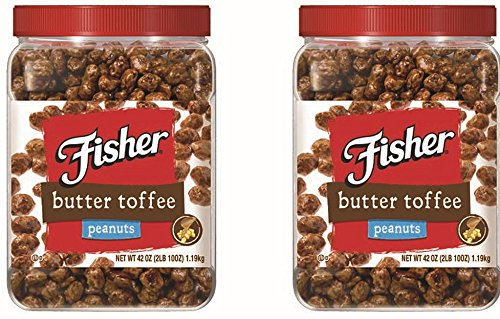 - Fisher Butter Toffee Peanuts, 42-Ounce Packages (Pack of 2)