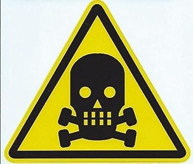 amazon com 4 5inx4in poison danger warning sign decal sticker