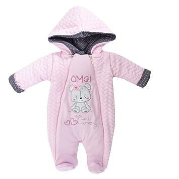 Baby Schneeanzug Overall Rosa 62
