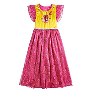 Disney Girls Fancy Nancy Fantasy Gown Nightgown, 4, Fancy Nancy Pink/Yellow