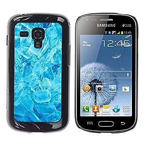 Qstar Arte & diseño plástico duro Fundas Cover Cubre Hard Case Cover para Samsung Galaxy S Duos / S7562 ( Winter Cool Ice Crystals Refreshing Snow)