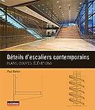 Détails d'escaliers contemporains: Plans, coupes et élévations