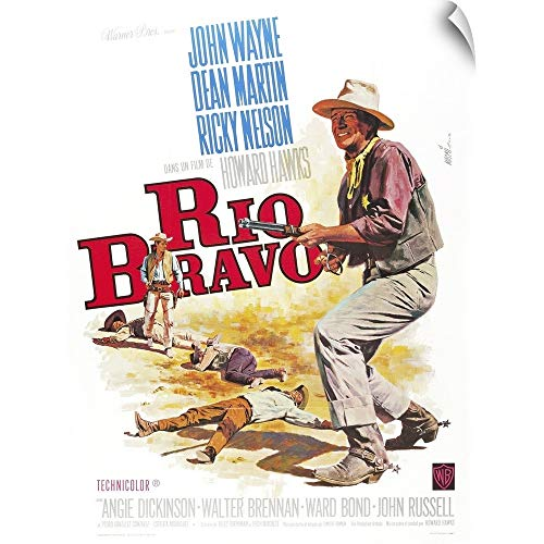 CANVAS ON DEMAND Rio Bravo - Vintage Movie Poster (French) Wall Peel Art Print, 27