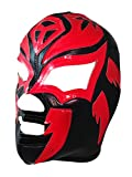 SOMBRA Adult Lucha Libre Wrestling Mask (pro-fit) Costume Wear - Black/Red