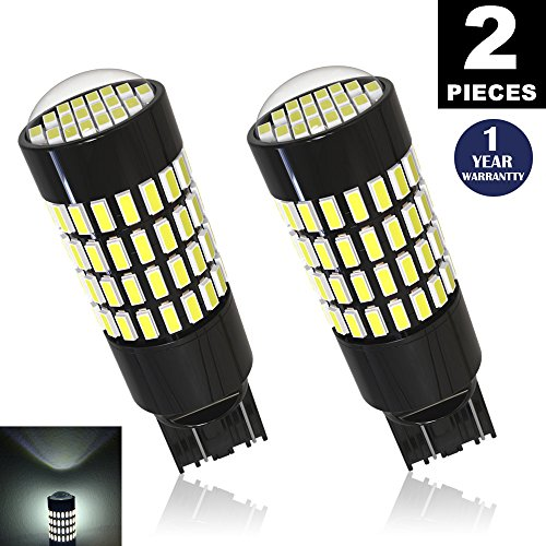 LUYED 2 X 1700 Lumens Extremely Bright 7443 4014 102--EX Chipsets 7440 7441 7443 7444 992 LED Bulbs,Xenon White(Brightest LED in market)