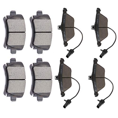 - OCPTY Ceramic Brakes Pads, Quick Stop Front Rear Brake Pad fit for 2006-09 Audi A4/A4 Quattro,2005-11 Audi A6/A6 Quattro,2009 Audi TT Quattro,2009-2011 VW CC/Passat CC,2006-2010 VW Passat,2008 VW R32