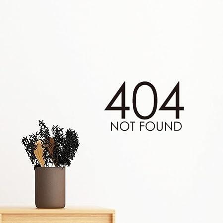 diythinker programmer 404 error not found removable wall sticker art