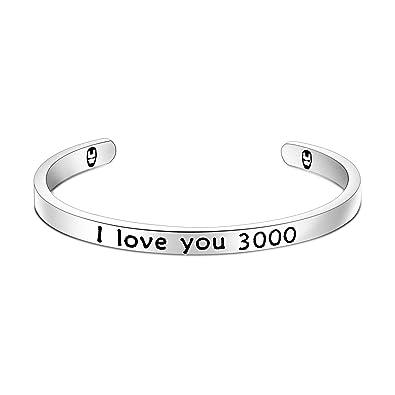 Amazon.com: Ensianth I Love You 3000 Llavero de Iron Man ...