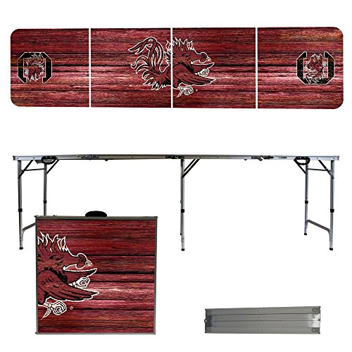 NCAA South Carolina Gamecocks USC Weathered Version 8 Foot Folding Tailgate Table,1234,Multicolored by Victory Tailgate
