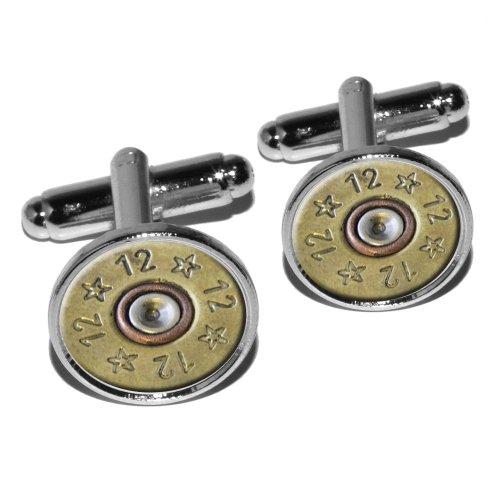 Gauge Spent Shell Bullet Cufflink