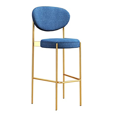 Amazon.com: NLLPZ-STOOL Taburetes de bar con respaldo, color ...