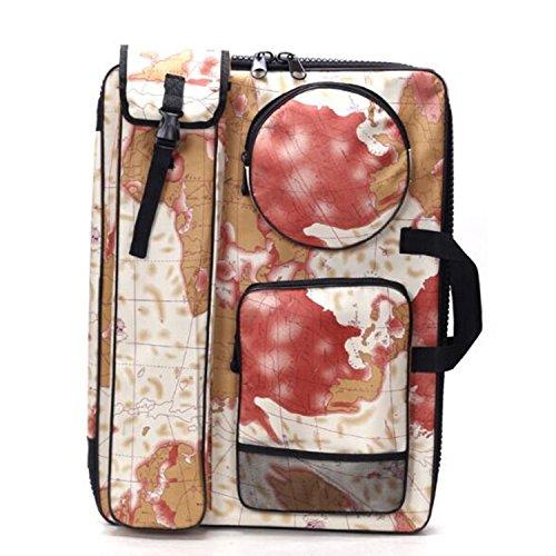 BOLUORY スケッチバッグ スケッチ用品 大容量 キャンバスバッグ 画板袋 上質 防水画材バッグ 多機能画材バッグ スケッチバッグ 絵の具バック 男女兼用 (レッド)の商品画像