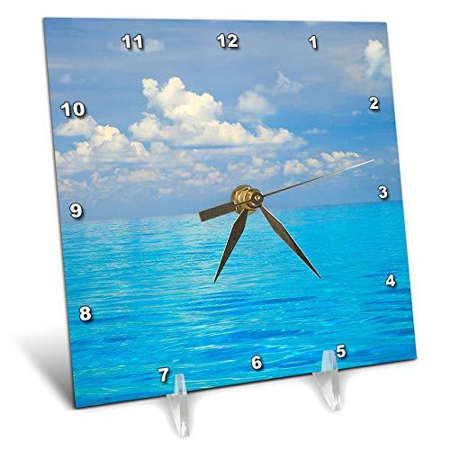 3dRose Danita Delimont - Seascapes - Close-up of Blue Tropical Water, Bahamas. - 6x6 Desk Clock (dc_312980_1)