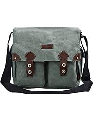 DGY Retro Canvas Messenger Bag Shoulder Bag Working Bag Crossbody Bag for Men
