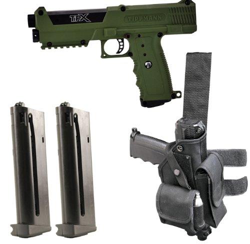 Tippmann TiPX Paintball Pistol Starter Kit - Olive