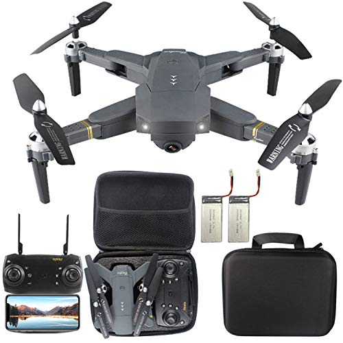 Quadcopter Drone K80 with WIFI FPV HD720P Camera Live Video and Foldable RC Drones RTF – Altitude Hold, One Key Take Off/Landing,3D Flip,for Beginngers and Adults (30mins Flying Times and Storage Bag)