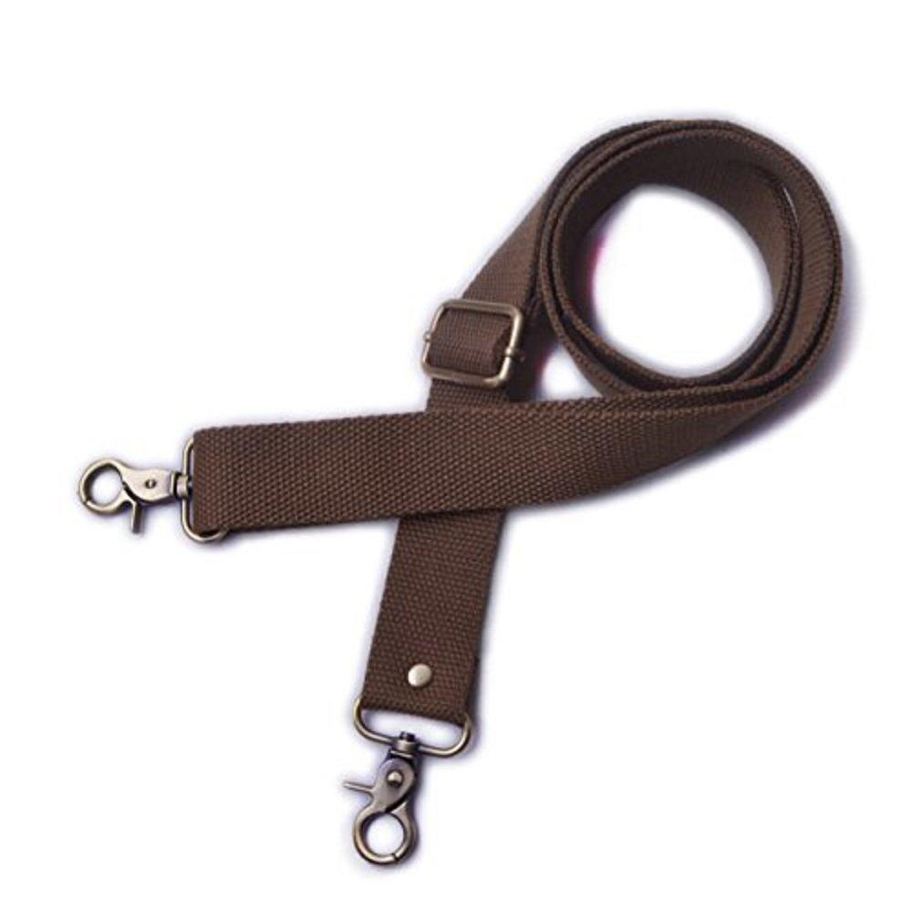 Wento 1pcs 31''-57'' Webbing Shoulder Cross Bag Strap,replacement Cross Body Purse Straps,canvas purses straps WTD034 (Black)