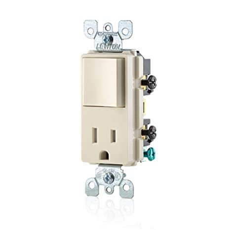 leviton t t decora combination switch and tamper resistant leviton t5625 t decora combination switch and tamper resistant receptacle light almond wall light switches com