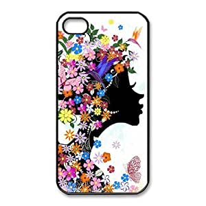 iPhone 4,4S Phone Case The butterfly flowers beautiful Protective Cell Phone Cases Cover TTR145565