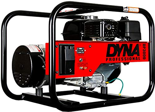 Winco Generators 29003-000 Model DP3000 DYNA Professional Portable Generator, 3000W Starting, 2500W Running, 20.8A Running, Built-in with GX160 Engine, 3600 RPM Speed, 1 HP, 120V Single Phase