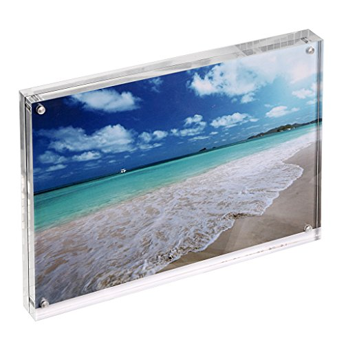 Hipiwe Clear Acrylic Picture Frame Magnetic Photo Frames Stand Double Side Desktop Photograph Display for Odd Size - Glasses Odd Frames