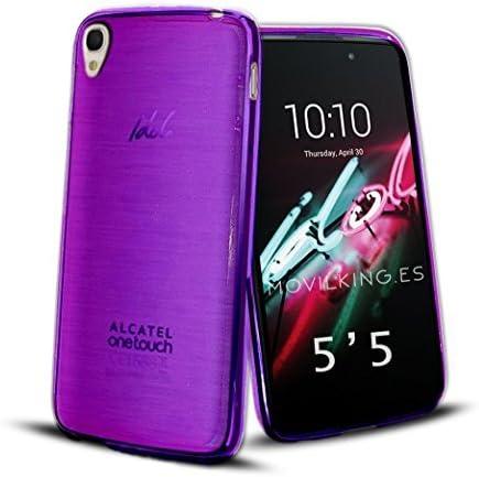 FUNDA DE GEL SILICONA MORADO PARA Alcatel One Touch Idol 3 ...