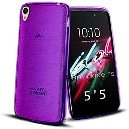 FUNDA DE GEL SILICONA MORADO PARA Alcatel One Touch Idol 3 ...