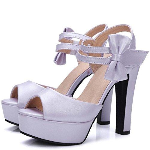 Coolcept Femmes Simple Bride Cheville Sandales Purple 9BZXcW