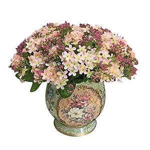 Artificial Flowers,Neartime 72 Heads Silk Flower Wedding Party Bridal Bouquet Home Decor 2017 NEW! (Pink) 113