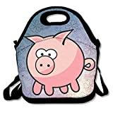 Oery Walking Pig Bento Lunch Bag Portable Cooler Tote
