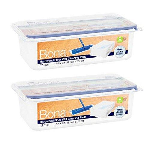 Bona Hardwood Floor Wet Cleaning Pads, 12 count - 2 Pack ()