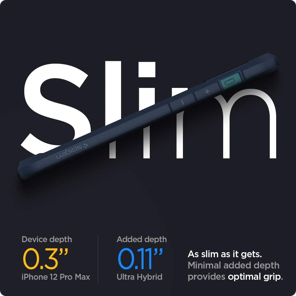 Bleu Marin Spigen Ultra Hybrid Coque Compatible avec iPhone 12 Pro Max