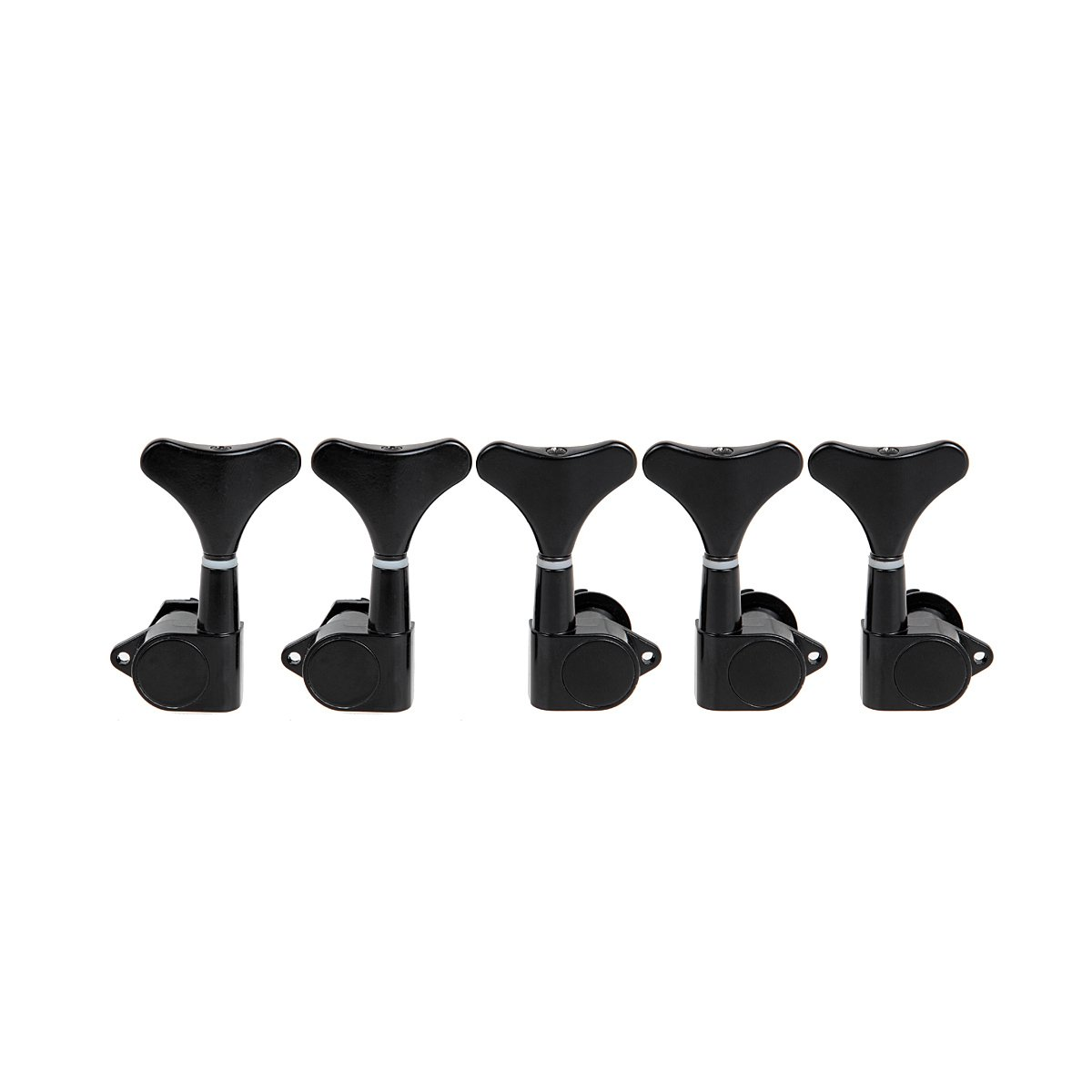 Pack of 5pcs Bass Tuning Pegs Black Sealed Machine Head for 5 String Bass 2L3R