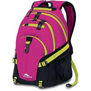 High Sierra Loop Backpack, Fuchsia Black Chartreuse/Pink, 19x13.5x8.5-Inch