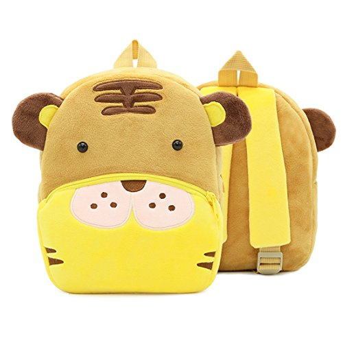 BeneKing Zoo Series Cute Children's Kindergarten Early Education Plush Shoulder Bag