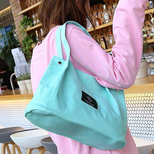 Mujer Hombro Grande Verde Baratos Bandolera De Lona V Amarillo Niña Shoppers Para Bolsos Esailq Y q46gExc5g