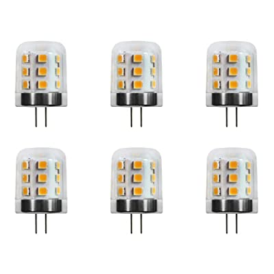 Makergroup T3 G4 Bi-pin LED Light Bulbs 12VAC/DC Low Voltage 3Watt Warm White 2700K-3000K for Outdoor Landscape Lighting Path Lights, Deck Lights, Step Lights, Paver Lights 6-Pack