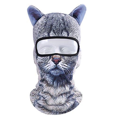 Outgeek Cat Mask, Women Men Balaclava Summer Full Face Hat Animal Ears Sports Helmet Climbing Fishing Cap (2PCS Cats) by Outgeek (Image #3)