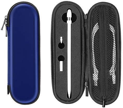 ACOCOBUY Compatibel met Apple Potlood Case met Houder Hard EVA Beschermend Apple Potlood 2e Case Apple Potlood 1e Case Draagbare Apple Potlood Cover Draagtas voor Apple Potlood AccessoiresNavy Blue
